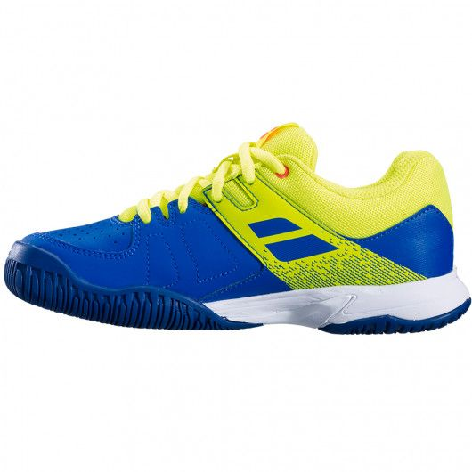 Кроссовки BABOLAT PULSION ALL COURT JR GS BL/FLUO AERO 2019. Фото ¹2