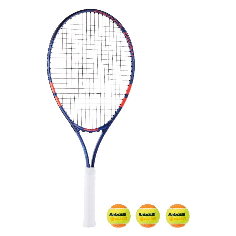 Теннисная ракетка BABOLAT KIT RG/FO JR 25+3 ORANGE BALLS. Фото ¹5