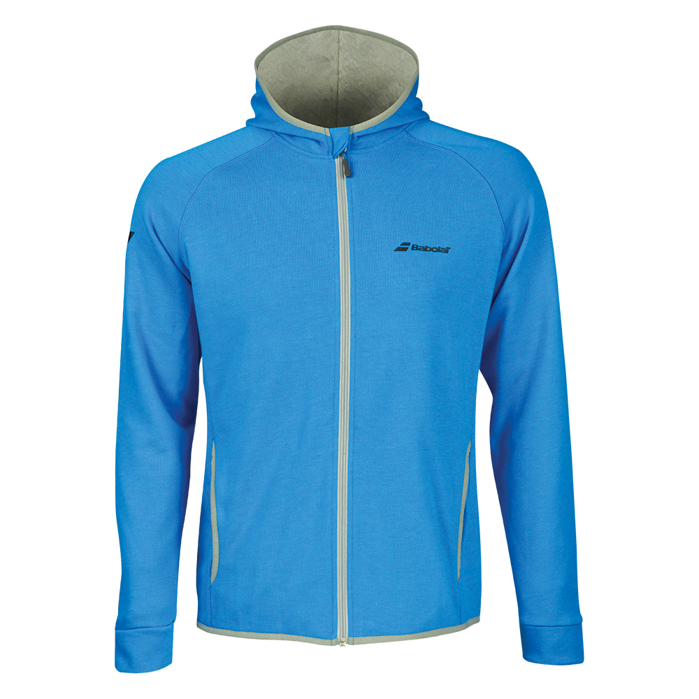Теннисный реглан BABOLAT CORE HOOD SWEAT MEN DIVA BLUE