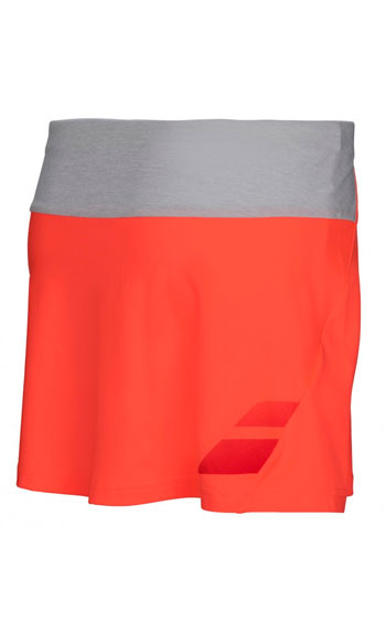 Теннисная юбка Babolat PERF SKIRT GIRL fl red. Фото �2
