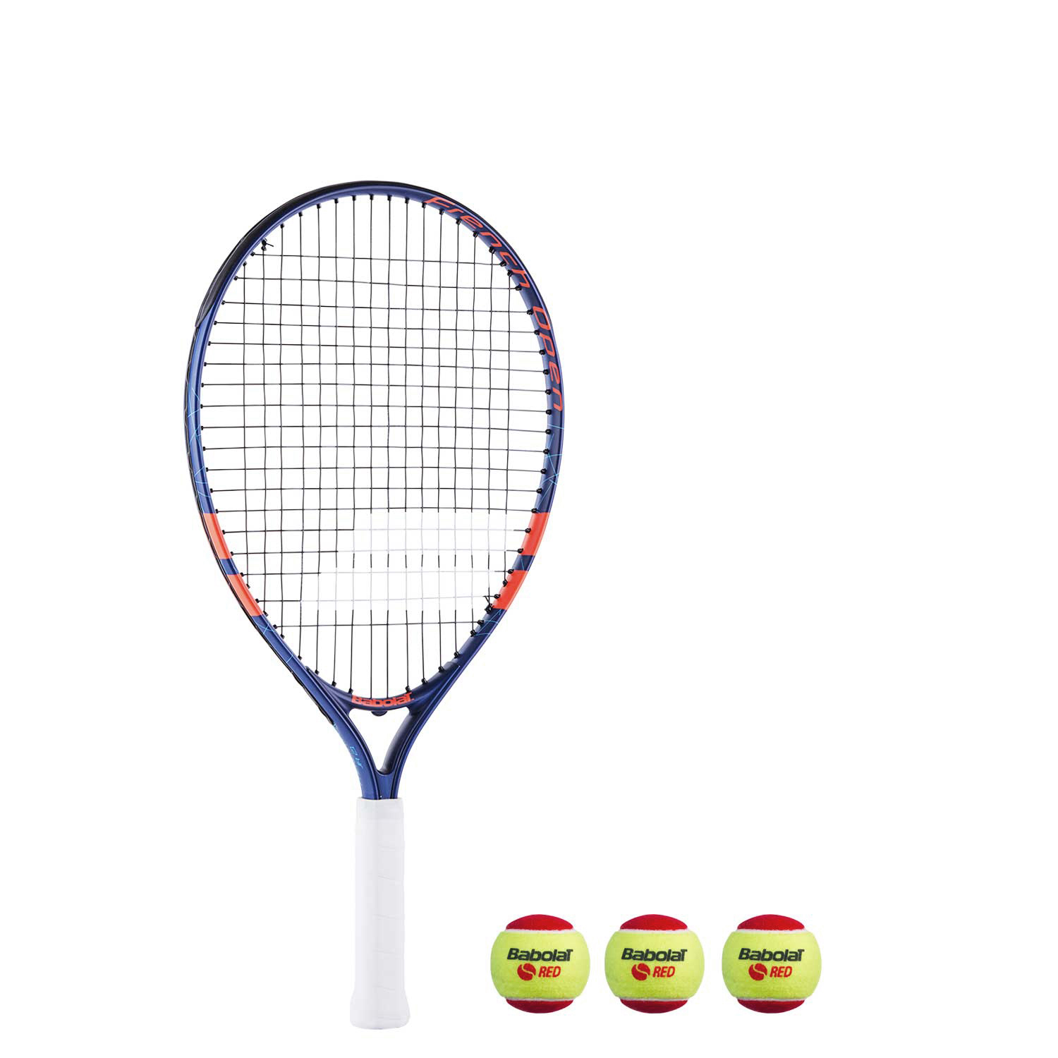 Теннисная ракетка BABOLAT KIT RG/FO JR 21+3 RED FELT BALLS. Фото ¹2
