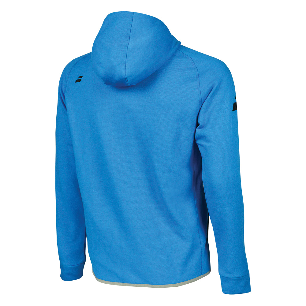 Теннисный реглан BABOLAT CORE HOOD SWEAT MEN DIVA BLUE  . Фото ¹2
