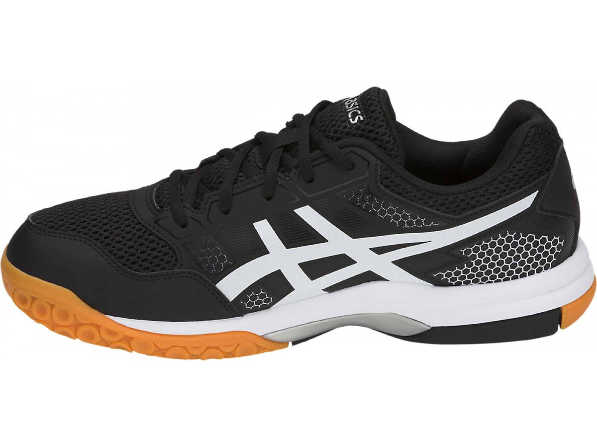 Кроссовки ASICS M Gel-Rocket 8 BK/WH 2019. Фото ¹2