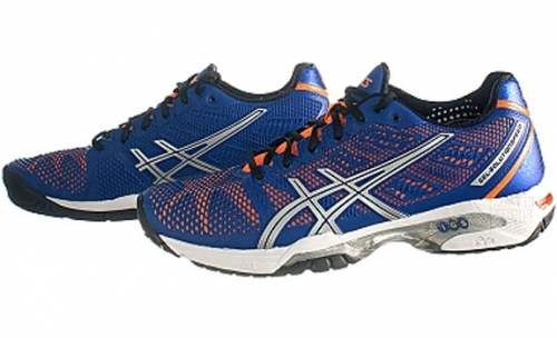 Кроссовки ASICS М GEL-SOLUTION SPEED 2   bl/or. Фото �4