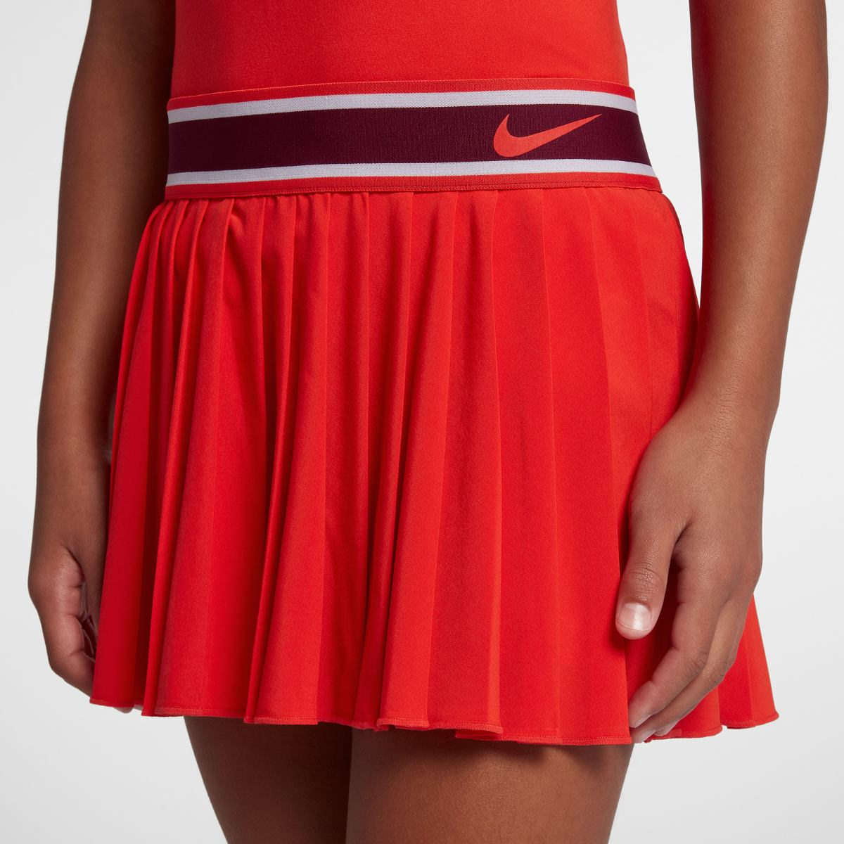 Теннисная юбка Nike GIRLS NKCT VICTORY SKIRT RED 27dfcee610afc