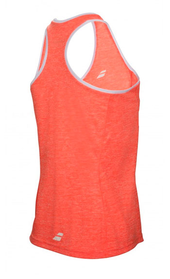 Теннисная майка Babolat CORE CROP TOP GIRL fl red. Фото �2