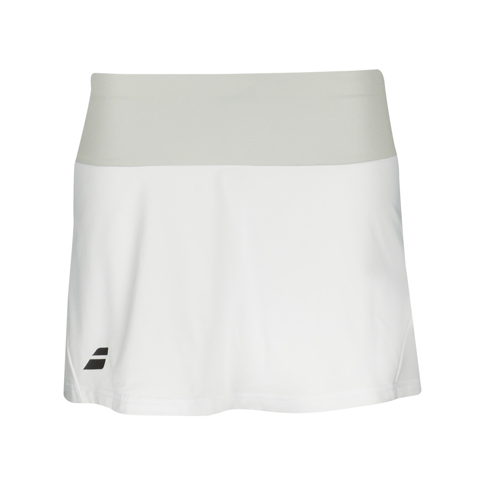 Теннисная юбка BABOLAT CORE SKIRT GIRL WHITE . Фото ¹2