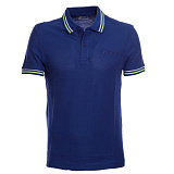 Теннисное  поло LOTTO M L73 POLO PQ BLUE TWILIGHT/GREEN LIGHT NEON