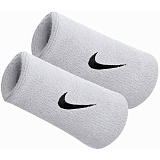 Напульсник NIKE SWOOSH DOUBLE WRISTBANDS WHITE/BLACK 2019