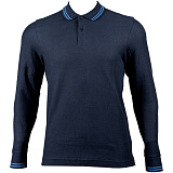 Теннисное  поло LOTTO M L73 POLO LS PQ NAVY/BLUE ATLANTIC