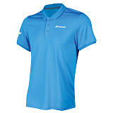 Теннисное поло BABOLAT CORE CLUB POLO BOY DIVA BLUE