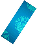Коврик для йоги LiveUp PVC YOGA MAT WITH PRINT blue