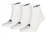 Носки теннисные HEAD 3P Unisex Quarter Socks 300 WH